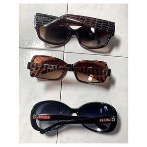 Lot of 3 Prada,Guess,Kenneth Cole Sunglasses